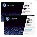 Original Toner Cartridges HP 26X (CF226XD) (Black) (2-pack)