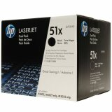 Original Toner Cartridges HP 51X (Q7551XD) (Black) for HP LaserJet P3005 X