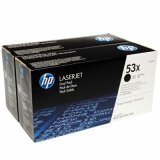 Original Toner Cartridges HP 53X (Q7553XD) (Black) for HP LaserJet P2015 X