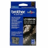 Original Ink Cartridge Brother LC-1100HY BK (LC1100HYBK) (Black) for Brother DCP-395 CN