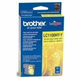 Original Ink Cartridge Brother LC-1100HY Y (LC1100HYY) (Yellow) for Brother DCP-395 CN