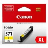Original Ink Cartridge Canon CLI-571 XL Y (0334C001) (Yellow)