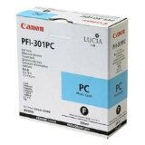 Original Ink Cartridge Canon PFI-301PC (1490B001) (Cyan Photo)