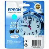 Original Ink Cartridge Epson 27xl (C13T271240) (Cyan) for Epson WorkForce WF-3640 DTWF