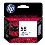 Original Ink Cartridge HP 58 (C6658A) (Foto) for HP Photosmart 7762 W