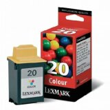 Original Ink Cartridge Lexmark 20 (15MX120E) (Color) for Samsung SF 4100