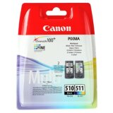 Original Ink Cartridges Canon PG-510 + CL-511 (2970B010)