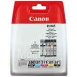 Original Ink Cartridges Canon PGI-580/CLI-581  CMYK (2078C005) (multi pack)