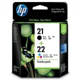 Original Ink Cartridges HP 21 + 22 (SD367AE) for HP Deskjet F2187