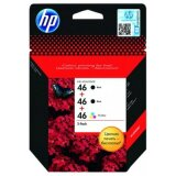Original Ink Cartridges HP 2x 46 BK + 46 Color (F6T40AE)