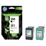 Original Ink Cartridges HP 350 + 351 (SD412EE) for HP Photosmart C4485