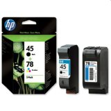 Original Ink Cartridges HP 45 + 78 (SA308A) for HP Photosmart 1215 VM