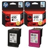 Original Ink Cartridges HP 650 (CZ101AE, CZ102AE) for HP Deskjet Ink Advantage 4648 e-All-in-One