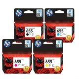 Original Ink Cartridges HP 655 (CZ112A, CZ111A, CZ110A, CZ109A) for HP Deskjet Ink Advantage 5500 All-in-One
