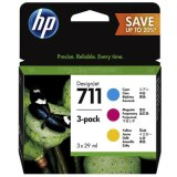 Original Ink Cartridges HP 711 CMY (P2V32A)