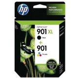 Original Ink Cartridges HP 901 XL BK + 901 C (SD519AE) for HP Officejet J4580