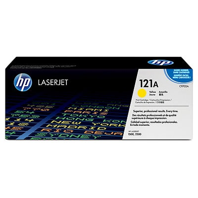 2500 LaserJets Yellow Toner Cartridge for 1500 Compatible HP C9702A 121A