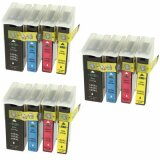 3x Compatible Ink Cartridges 100XL CMYK for Lexmark (14N1912)