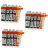 3x Compatible Ink Cartridges CLI-5/8 CMYK for Canon
