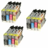 3x Compatible Ink Cartridges LC-1240 CMYK (LC1240VALBP) for Brother MFC-J5910 DW