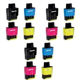 3x Compatible Ink Cartridges LC-900 CMYK (LC900VALBP) for Brother MFC-410 CN