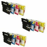 3x Compatible Ink Cartridges LC-985 CMYK (LC985VALBP) for Brother MFC-J415 W