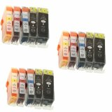 3x Compatible Ink Cartridges PGI-520 BK/CLI-521 CMYK for Canon