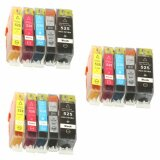 3x Compatible Ink Cartridges PGI-525 BK/CLI-526 CMYK for Canon