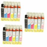 3x Compatible Ink Cartridges T0487 for Epson (C13T04874010) (multi pack)