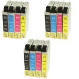 3x Compatible Ink Cartridges T0615 for Epson (C13T06154010)