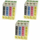 3x Compatible Ink Cartridges T0715 for Epson (C13T07154010) (multi pack)