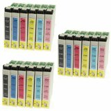 3x Compatible Ink Cartridges T0807 for Epson (C13T08074011)