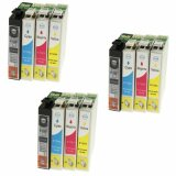 3x Compatible Ink Cartridges T1285 for Epson (C13T12854010)