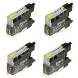 4x Compatible Ink Cartridge LC-1280 XL BK for Brother (LC1280XLBK) (Black)