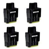 4x Compatible Ink Cartridge LC-900 BK (LC900BK) (Black) for Brother MFC-410 CN