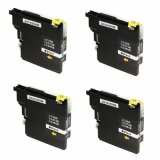 4x Compatible Ink Cartridge LC-985 BK (LC985BK) (Black) for Brother DCP-140 W