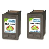 Compatible Ink Cartridges 21 (CC627A) (Black) (2-pack) for HP Deskjet F2180
