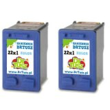 Compatible Ink Cartridges 22 (SD429AE) (Color) (2-pack) for HP Deskjet F2180