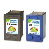 Compatible Ink Cartridges 27 + 28 (CC628A) for HP Deskjet 3668