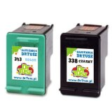 Compatible Ink Cartridges 338 + 343 (SD449EE) for HP Photosmart C3100