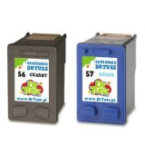 Compatible Ink Cartridges 56 + 57 (CC629A) for HP Photosmart 7762 W