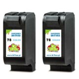 Compatible Ink Cartridges 78 (C8725A) (Color) for HP Deskjet 952 C