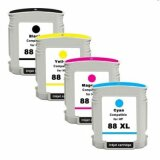 Compatible Ink Cartridges 88 XL CMYK for HP Officejet Pro L7580