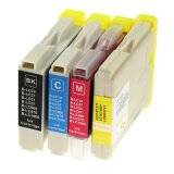 Compatible Ink Cartridges LC-1000 CMYK (LC1000VALBP) for Brother DCP-350 C