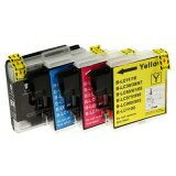 Compatible Ink Cartridges LC-1100 CMYK (LC1100VALBP) for Brother DCP-395 CN