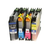 Compatible Ink Cartridges LC-123 CMYK (LC123VALBP) for Brother DCP-J552 DW