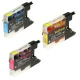 Compatible Ink Cartridges LC-1240 CMY (LC1240RBWBP) for Brother MFC-J5910 DW
