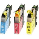 Compatible Ink Cartridges LC-125 XL CMY (LC125XLRBWBP) for Brother MFC-J4510 DW