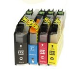 Compatible Ink Cartridges LC-223 CMYK (LC223CMYK) for Brother MFC-J5625 DW