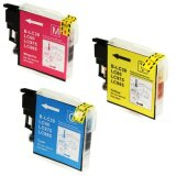 Compatible Ink Cartridges LC-985 CMY (LC985RBWBP) (3-pack) for Brother DCP-J125